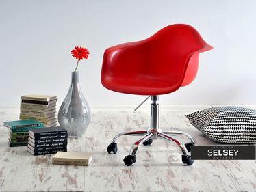 Fotel biurowy MPA move czerwony obrotowy na kółkach