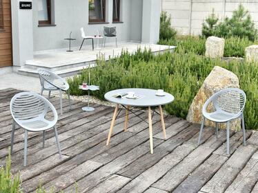 Krzesło Cergon szare z tworzywa ażurowe
