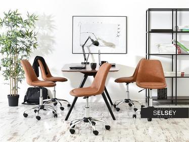 Fotel biurowy Luis move brązowy mobilny