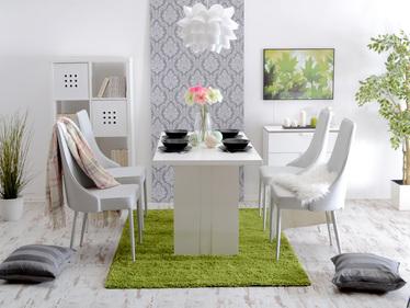 Krzesło tapicerowane Bolzano popiel ekoskóra