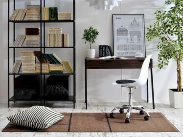 Fotel biurowy MPC move biały - chrom na kółkach