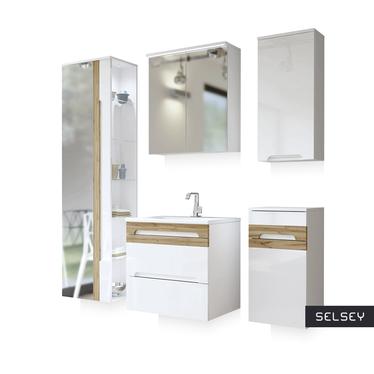 Zestaw mebli łazienkowych Warner z lustrem mały