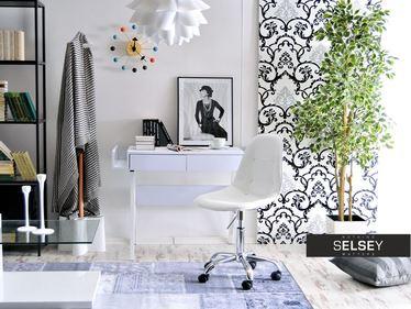 Fotel biurowy MPC move tap biały - chrom pikowany