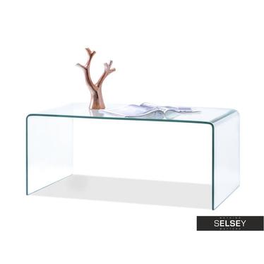 Ława Jaspis 90x50 cm z giętego szkła