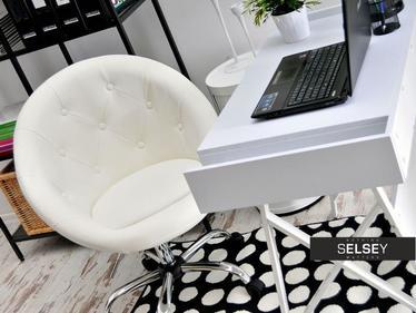 Fotel biurowy Lounge 4 biały tapicerowany