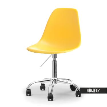 Fotel biurowy MPC move żółty - chrom na kółkach