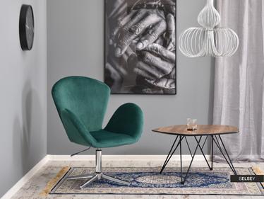 Fotel biurowy Swan zielony welurowy