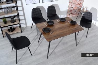Stół Oneka 120x80 cm orzech vintage w stylu industrialnym