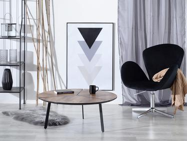 Stolik kawowy Nayru średnica 86 cm orzech postarzany