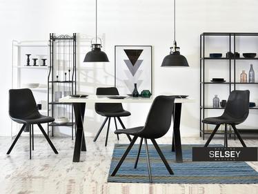 Krzesło Proxi czarne do wnętrz industrialnych