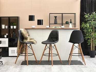 Hoker EPS wood czarny-orzech tapicerowany