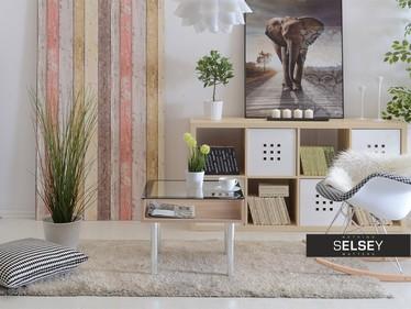 Stolik kawowy Cubic 1 55x55 cm z półką pod blatem