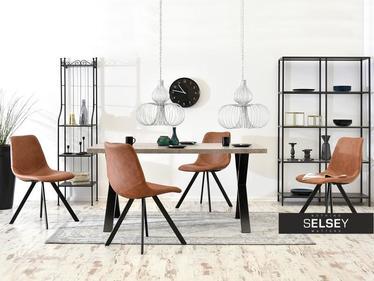 Krzesło Proxi brązowe do wnętrz loftowych