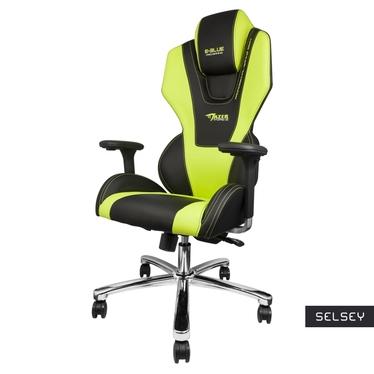 Fotel gamingowy E-Blue Mazer czarno-zielony