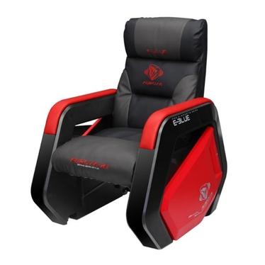 Fotel gamingowy E-Blue Auroza wypoczynkowy szaro-czerwony