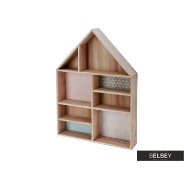 Półka w kształcie domu Pastel 55 cm