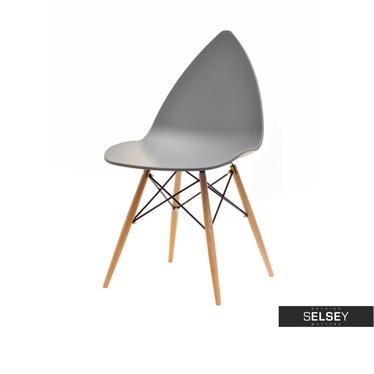 Krzesło Been z tworzywa na drewnianych nogach