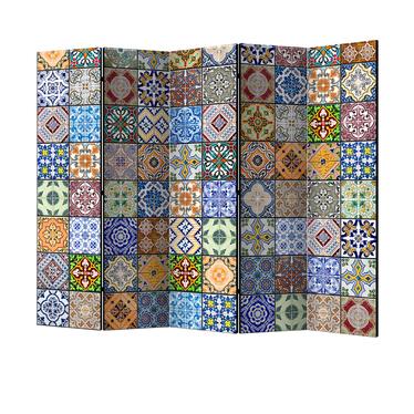 Parawan 5-częściowy - Kolorowa mozaika