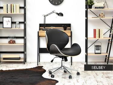 Fotel biurowy Boom dąb palony - czarny z drewna giętego