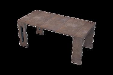 Włoski stół rozkładany Roma miedź
