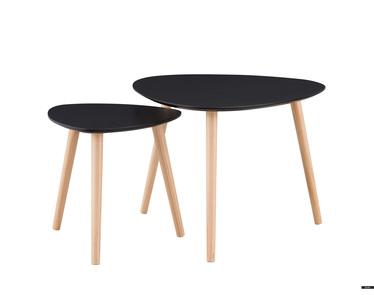 Zestaw stolików kawowych Glada czarne 60x60 cm i 40x40 cm