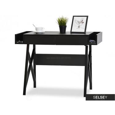 Biurko Boras czarne pod laptopa w minimalistycznym stylu