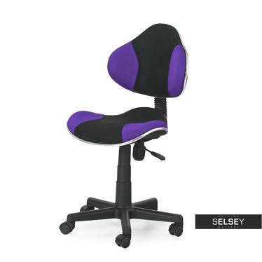 Fotel biurowy Magic czarno - fioletowy
