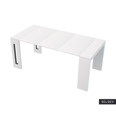 Włoski stół rozkładany Roma biały