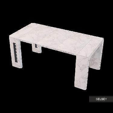 Włoski stół rozkładany Roma marmur