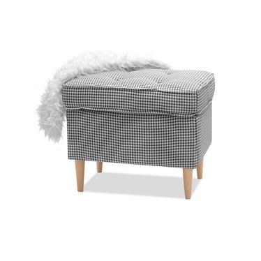 Podnóżek Malmo pepitka do salonu w nowoczesnym stylu