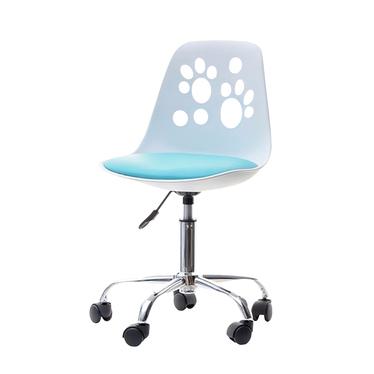 Fotel biurowy Foot biało - niebieski dziecięcy do biurka