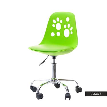 Fotel biurowy Foot zielony designerskie krzesło do biurka