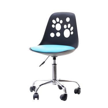 Fotel biurowy Foot czarno - niebieski z regulacją wysokości