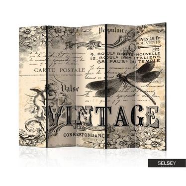 Parawan 5-częściowy Vintage Correspondence