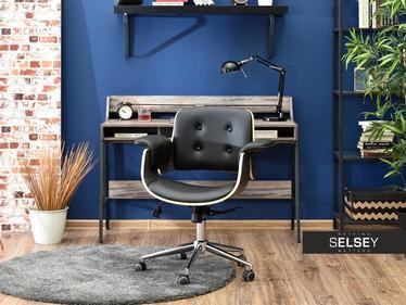 Fotel biurowy Duck dąb palony - czarny z giętego drewna