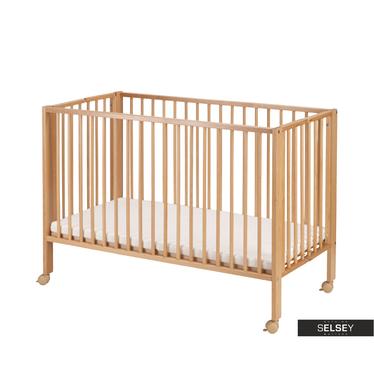Łóżeczko dziecięce Baby składane z materacem