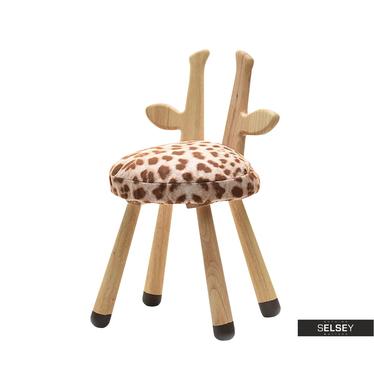 Krzesło Żyrafa dziecięce z drewnianymi nóżkami