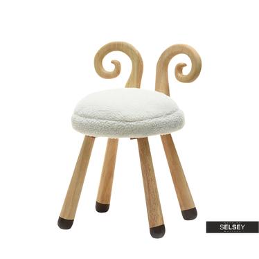 Krzesło Owieczka kremowe do pokoju dziecięcego