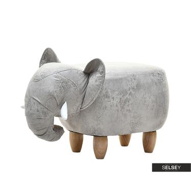 Siedzisko Słonik szary tapicerowany
