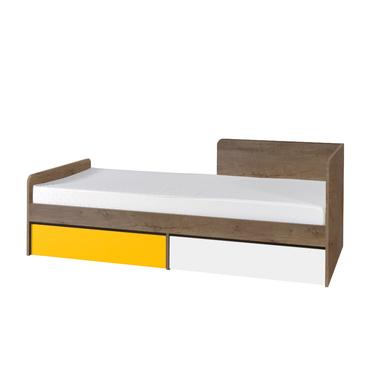 Łóżko Jackie z dwiema szufladami dąb lefkas