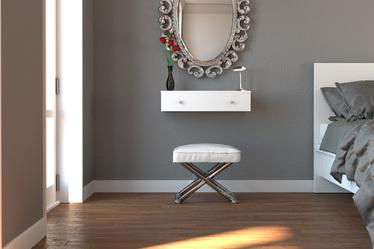 Toaletka Claudio wisząca z chromowanymi uchwytami