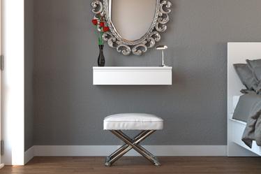 Toaletka Agnar wisząca z wpuszczonym uchwytem