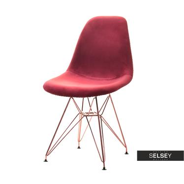 Krzesło MPC rod tap bordo-miedź kuchenne z oparciem