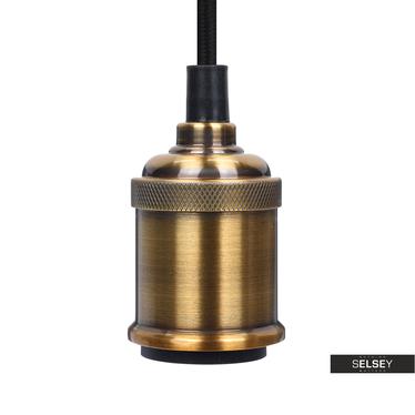 Lampa wisząca Arkada z pierścieniem złota