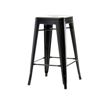 Hoker Alfredo stool 2 czarny z metalu