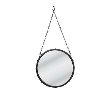 Lustro Captain's Mirror średnica 39 cm czarne
