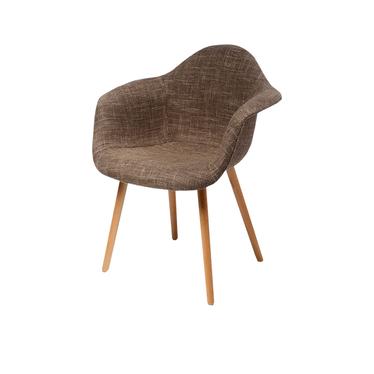 Krzesło CosyArm tapicerowane brąz