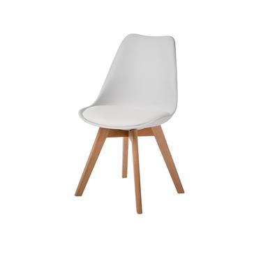 Krzesło Luis 2 wood buk-biały