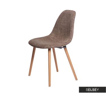 Krzesło Cosy tapicerowane brązowe