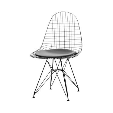 Krzesło MPC wire rod czarne industrialne